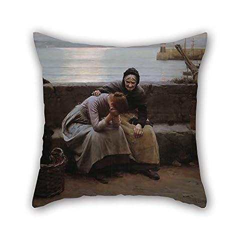 Alphadecor la peinture à l'huile Walter Langley–jamais Matin Portait au Soir mais certains Cœur de cette Pause Taie d'oreiller de cadeau, décoration de 50,8x 50,8cm/50par 50cm, pour femme, enfants, Shop, enfants filles, DE VOITURE S