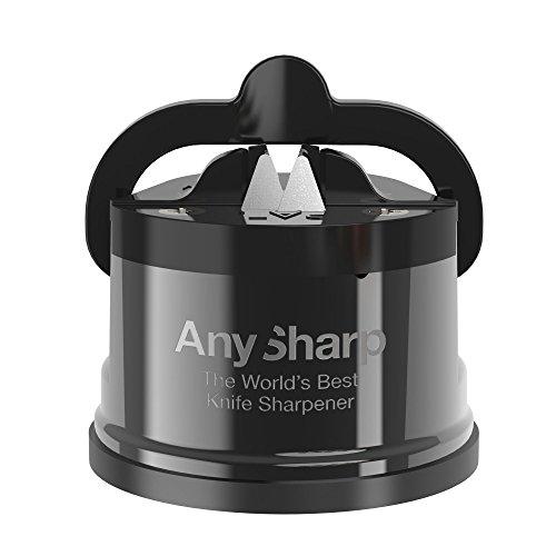 AnySharp Pro Metal Messerschärfer mit Saugnapf, Wolfram, 6.2 x 6.2 x 6.7