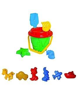 12-tlg.Sandkasten-Set, Sandspielzeug, Eimergarnitur für Kinder, Sandformen für Mädchen und Jungen, , Happy Sand, Kinetic Sand