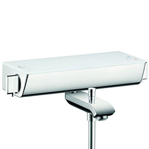 hansgrohe Ecostat Select Aufputz Wannenthermostat, für 2 Funktionen ohne Adapter zur Renovation, Weiß/Chrom