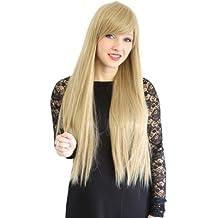 Prettyland C1883 - 75cm lungo caramello capelli parrucca resistente al calore bionda del volume galtte Blonde