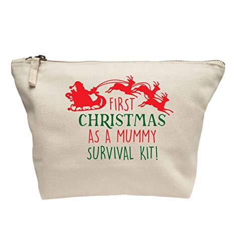 Flox Creative Make-up-Tasche First Christmas Mummy Survival