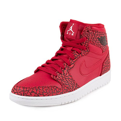 Nike Herren Air Jordan 1 Retro High Basketball Turnschuhe, Rojo