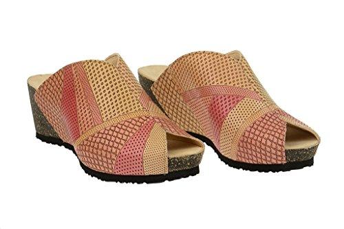 Think!  Think Zilli - Keil Pantolette - karotte gelb + hellrot, Chaussures de ville à lacets pour homme Rouge - Rouge