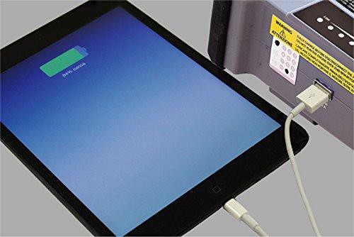 41yaGpevNVL - BC Booster K3600-12V 1200A - Arrancador de Emergencia para Coche y Moto + Batería Portátil con USB 20000 mAh para Smartphones y Tabletas + Antorcha LED SOS