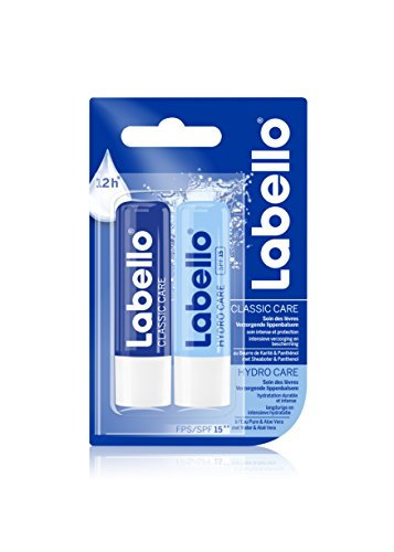 Duo Labello Classic Care Hydro Cura e 2x4,8g - Lotto di 2