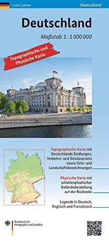 Deutschland 1: 1 000 000: Topographische und Physische Karte (Topographische Karten 1:1 000 000)