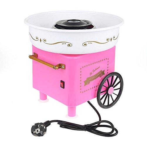 Vintage Cart Mini Zuckerwatte Maschine Zuckerwatte Maschine für Zucker, Zuckerwattegerät, Süßigkeiten Hersteller Automat Zuckerwatte, europäische Spezifikation,450W,Größe30x30x25