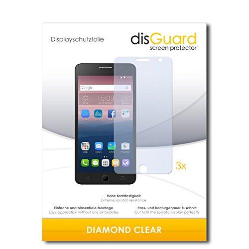 3 x disGuard® Schutzfolie Alcatel One Touch Pop Star 3G Bildschirmschutz Folie