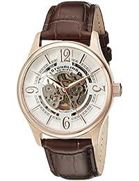 Stuhrling Original Delphi - Reloj automático, para hombre, con correa de cuero, color marrón