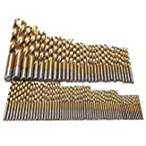 99pcs Titanium HSS Drill Bits Coated 1.5mm - 10mm Stainless Steel HSS High Speed Drill Bit Set for Electrical Drill Tools HT706