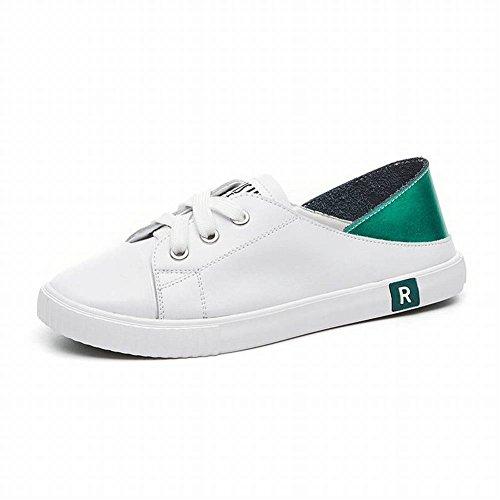 Leder Zwei Tragen Weiße Schuhe W...