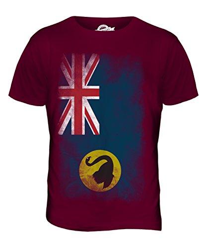 CandyMix Western Australia Verblichen Flagge Herren T Shirt Burgunderrot