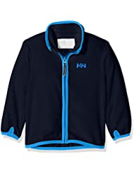 Helly Hansen K Daybreaker Fleece - Chaqueta polar para niños, color azul, talla 110/5