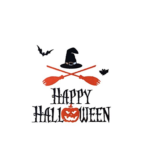 handlungs-Beutel Süßigkeit-Keks-Beutel Selbstklebendes Plätzchen-Cellophan-Beutel für DIY Nahrungsmittelpaket 100pcs (glückliches Halloween druckte) (Halloween-süßigkeiten Diy)