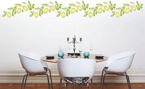 Lemon Branch stencil – 32 x 16.5 cm – riutilizzabile di frutta ...