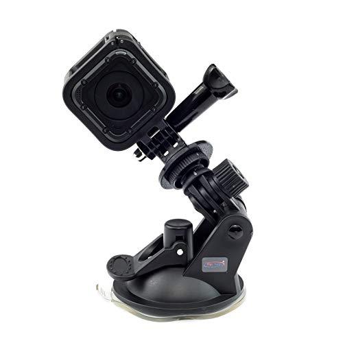 Digicharge® Saugnapf Halterung für GoPro Hero7 7 Hero6 6 4K Hero 4 Session Mini Hero 5 4 3+ 3 2 1 Go Pro HD Kamera Halter an Auto KFZ Auto-Halterung Suction Cup