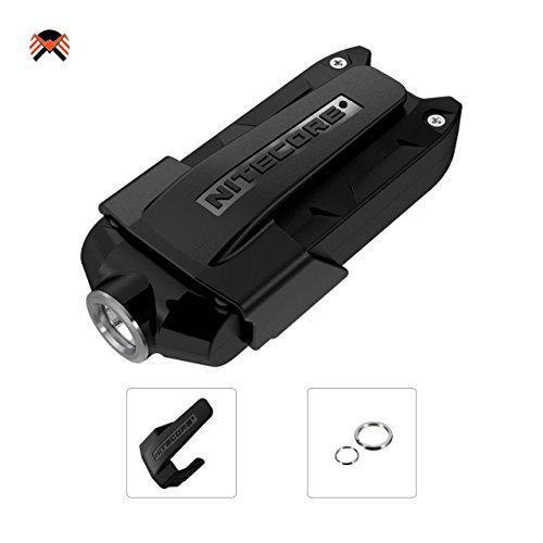 NITECORE TIP Highly Portable Metallic LED Keychain Light 360 Lumens USB Rechargeable High Capacity Li-Ion Battery 23.5 Grams, Multipurpose Clip