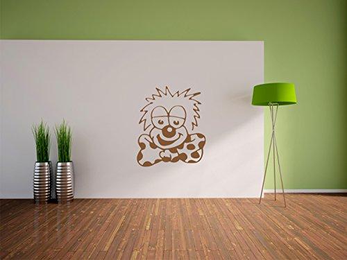 Freundlicher Clown Wandtattoo Format: 1200x1020 mm_m Wandbild, Wandaufkleber, Wandsticker Dekoration für Wohnzimmer, Schlafzimmer und (Böse Gruselig Clowns)