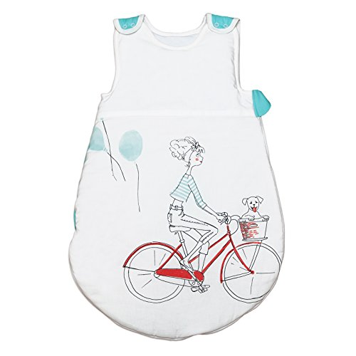 Bicycle in ParisPati\'Chou baby Baumwolle Schlafsack 0-6 monate (68 cm, 1 tog)
