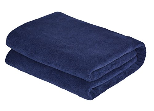 Hope Shine Mikrofaser badetuch xxl badetücher groß Yogat 80cm X150cm (Navy blau)
