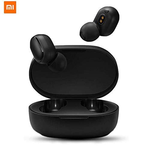 Xiaomi Redmi Airdots TWS Bluetooth 5.0 Cuffie Stereo Bass Cuffie Senza Fili con 300mAh Scatola di Ricarica True Stereo Sound Mini Auricolari Bluetooth Fili Auricolare Anti-Sudore IPX4 con Microfono