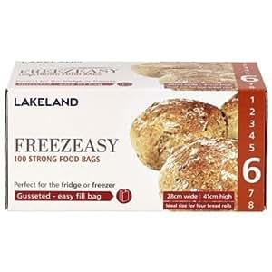 Lakeland Sacs Congélation À Soufflets Freezeasy Taille6 (28 x 41cm) x 100