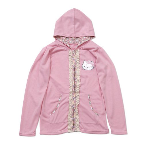 Hello Kitty pink piping parka size M (japan import)