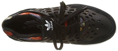 adidas Zx Flux Lace, Sneakers Basses femme Noir (Core Black/Core Black/Ftwr White)