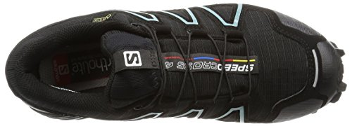 Salomon Speedcross 4, Chaussures de Trail Femme Noir (Black/Black/Metallic Bubble Blue)