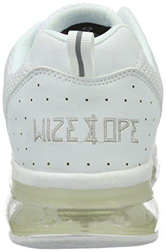 Wize & Ope Xrun, Baskets Basses Mixte Adulte Blanc - Weiß (White 1)