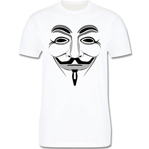 Nerds & Geeks - Anonymous Maske - Herren Premium T-Shirt Weiß