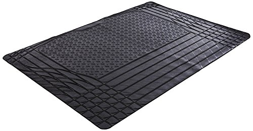 XtremeAuto® Universal Fit All - Black Rubber Non-Slip Car Boot Liner Complete with Sticker