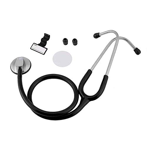 Yao Portable Flat Head Stethoscope Medical Auscultation Device Tool Heath Care Black