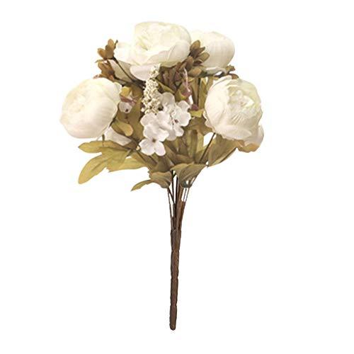 SuperSU Kunstblumen ►▷1 Stück Künstliche Pfingstrose Blütenknospe/Hochzeitsblumenstrauß/Gefälschte Blumen/Hochzeit Wohnzimmer Hotel DIY Dekoration/Blumenschmuck/kunstpflanzen 42cm