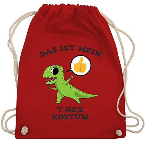 Karneval & Fasching - Das ist mein T-Rex Kostüm Comic - Unisize - Rot - WM110 - Turnbeutel & Gym - Rot T Rex Kostüm