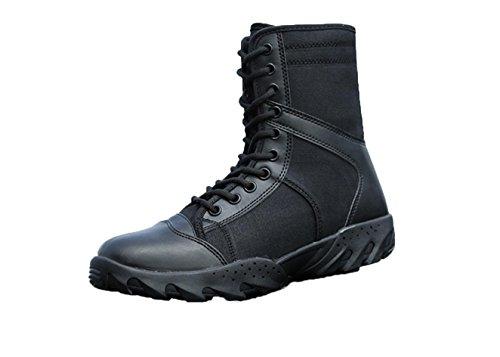 Calçados Masculinos Wzg Forças Especiais Fãs Militares Táticos Verão Ao Ar Livre Usar Botas Respiráveis botas De Combate Alto-top-ponta Até Sapatos Pretos