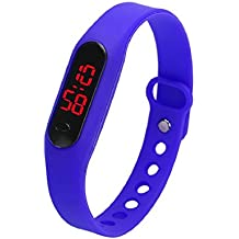 Culater® Caucho LED Unisex Fecha Deportes pulsera reloj de pulsera digital (Azul)