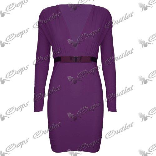 Pure Fashion Damen Minikleid körperbetont Mehrfarbig Royal Blue - New Casual Above Knee Length Summer