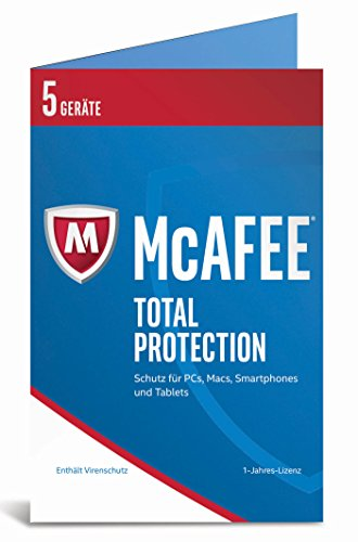 McAfee Total Protection 2017 | 5 Geräte | 1 Jahr | PC/Mac/Smartphone/Tablet | Download