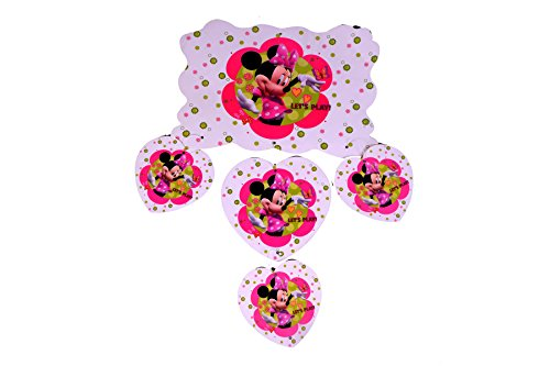 Partysanthe Minnie Mouse Theme Buntting Banner/Frozen Dangler/Dangler Flag Bunting/ Bunting Banner