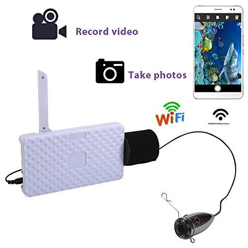 H&L Angelkamera, Edelstahl 720P WiFi Wireless 1000TVL Unterwasser-Videoaufruf für IOS Android APP unterstützt Video-Aufzeichnung und Aufnahme Foto,15M