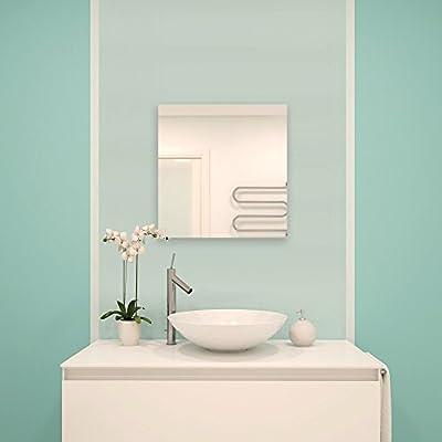 MSV Spiegel Spiegelfliesen Wandspiegel Fliesenspiegel selbstklebend 3 Stück - 30x30cm