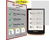 EnWi | 2X Panzerfolie klar Passgenau für Pocketbook Touch HD 3-9H Panzerglasfolie Displayschutzfolie Schutzfolie Folie Displayschutz