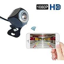 Telecamera di retromarcia Podofo Wifi 1080P Full HD visione notturna Telecamera di retrovisione wireless Impermeabile Telecamera grandangolare per Android/IOS Smart Phone