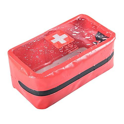 Transparent Erste Hilfe Tasche, PVC Notfalltasche, Leer Erste Hilfe Set, First Aid Kit, Leere Medizinisch Tasche im Freien Notfalltasche Dry Bag für Outdoor Camping Wandern Reisen