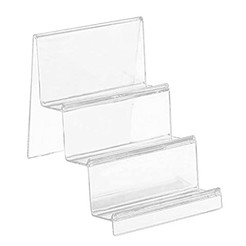 Gosear 3-Tier Klaren Acryl Schritt Treppe zeigt Display Regal Stand Organizer