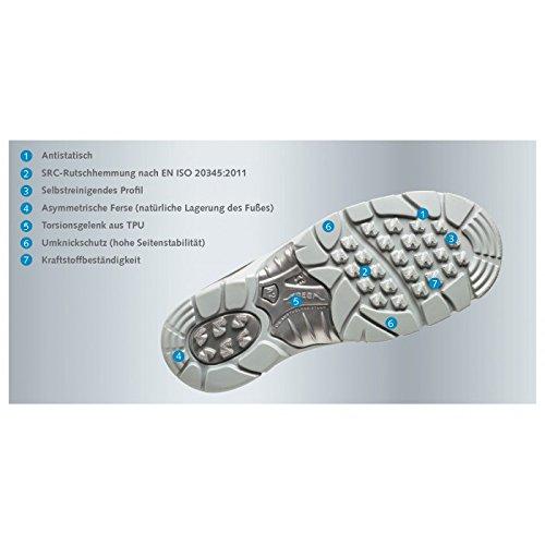 ABEBA anatom Berufsschuh Sicherheitsschuh 32290 32291 32292 S1P ESD, modischer Schuh für Sie und Ihn Grau/Orange