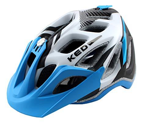 K-E-D KED Fahrradhelm Trailon, Größe M, Kopfumfang 52-58 cm, Blue Pearl Matt, Extrem gut belüfteter All-Mountain Helm in robuster maxSHELL- Technologie - Made in...