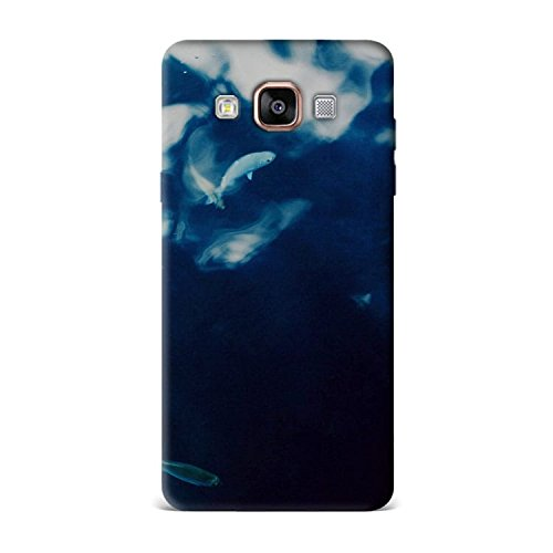 Samsung A7 Case, Samsung A7 Hard Protective SLIM Printed Cover [Shock Resistant Hard Back Cover Case] for Samsung A7 - Water Lake Fish Nature Indigo Blue  available at amazon for Rs.299